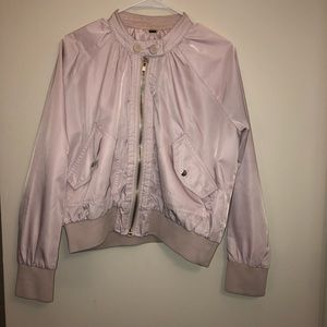 Free People light pink lavender track jacket Small